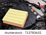 air filter on car engine | Shutterstock . vector #713783632