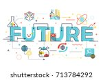 future word lettering... | Shutterstock .eps vector #713784292