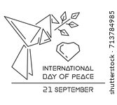 international day of peace... | Shutterstock .eps vector #713784985
