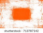 abstract grunge orange dark... | Shutterstock . vector #713787142