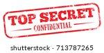 top secret stamp | Shutterstock .eps vector #713787265