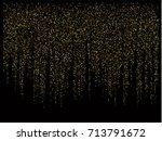 christmas sparkles  gold ... | Shutterstock .eps vector #713791672