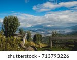 panoramic view from the volcano ... | Shutterstock . vector #713793226