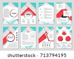 abstract vector layout...   Shutterstock .eps vector #713794195