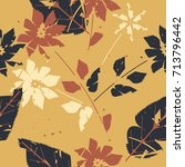 autumn endless pattern with... | Shutterstock .eps vector #713796442