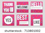 abstract vector layout... | Shutterstock .eps vector #713801002