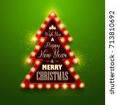 christmas background. retro... | Shutterstock .eps vector #713810692