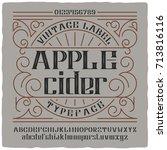 vintage label typeface named ... | Shutterstock .eps vector #713816116