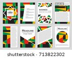 abstract vector layout... | Shutterstock .eps vector #713822302