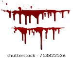 blood isolated on white... | Shutterstock .eps vector #713822536