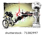 adrenaline bike - stock vector