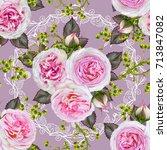 floral seamless pattern. flower ...   Shutterstock . vector #713847082