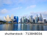 view of cityscape of singapore... | Shutterstock . vector #713848036
