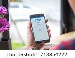 chiang mai  thailand  ... | Shutterstock . vector #713854222