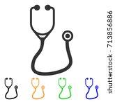stethoscope icon. vector... | Shutterstock .eps vector #713856886