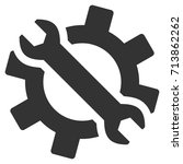 wrench and gear tools vector...   Shutterstock .eps vector #713862262