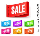 color sale tags | Shutterstock . vector #713866672