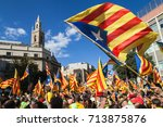 barcelona  spain   september 11 ... | Shutterstock . vector #713875876