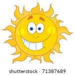 happy smiling sun mascot... | Shutterstock .eps vector #71387689