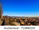 the sun goes down on the city... | Shutterstock . vector #713880232