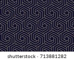 abstract geometric pattern with ... | Shutterstock . vector #713881282