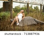 portrait photo session in a... | Shutterstock . vector #713887936
