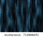 generative block stream with... | Shutterstock .eps vector #713888692