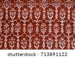 Pattern On Taj Mahal In Agra ...