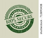 green 100  secure distress... | Shutterstock .eps vector #713893438