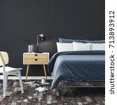3d render of beautiful bedroom...   Shutterstock . vector #713893912