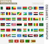 national flag of african... | Shutterstock .eps vector #713895502