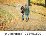 lovely young couple in love... | Shutterstock . vector #713901802