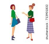 colorful illustration set of... | Shutterstock .eps vector #713901832