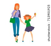 colorful illustration set of... | Shutterstock .eps vector #713901925