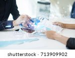 applications icons and graphs... | Shutterstock . vector #713909902