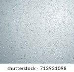 water rain drops on glass ... | Shutterstock . vector #713921098
