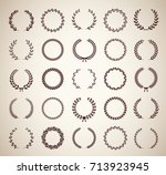 collection of thirty circular... | Shutterstock .eps vector #713923945