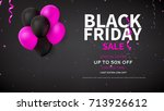 web banner template for black... | Shutterstock .eps vector #713926612