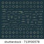 huge rosette wicker border... | Shutterstock . vector #713930578