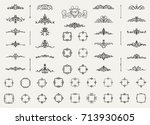 vintage decor elements and... | Shutterstock . vector #713930605