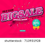 sale banner template design ... | Shutterstock .eps vector #713931928