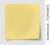 office yellow paper sticky note ... | Shutterstock .eps vector #713933872