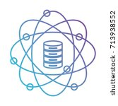 data science atom around of... | Shutterstock .eps vector #713938552