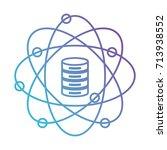 data science atom around of... | Shutterstock .eps vector #713938552