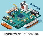 colored semiconductor... | Shutterstock .eps vector #713942608