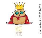 vector funny cartoon cool cute...   Shutterstock .eps vector #713946892