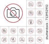 thin line no photo prohibition...   Shutterstock .eps vector #713952952