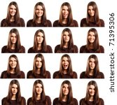 teenager girl with different... | Shutterstock . vector #71395306
