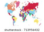 color world map. | Shutterstock .eps vector #713956432