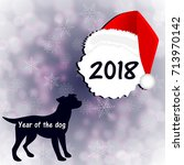 new year's card in the year of... | Shutterstock .eps vector #713970142